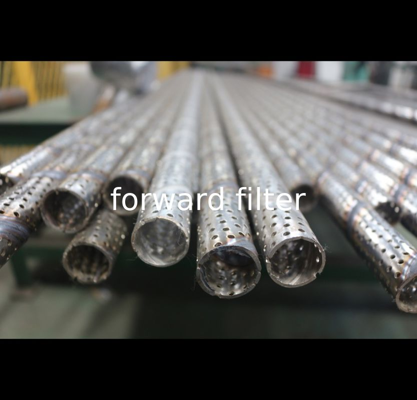 Electrolytically Polished Perforated Stainless Cylinder Up To 2000 Mm In Length