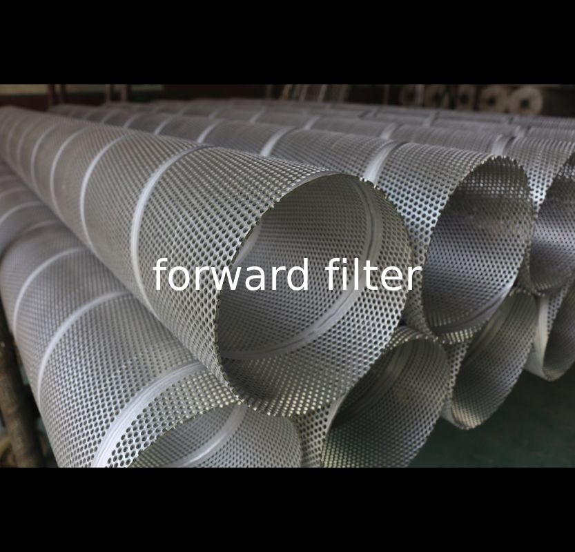 Round Hole Perforated Stainless Tube , 304 Stainless Steel Perforated Cylinder