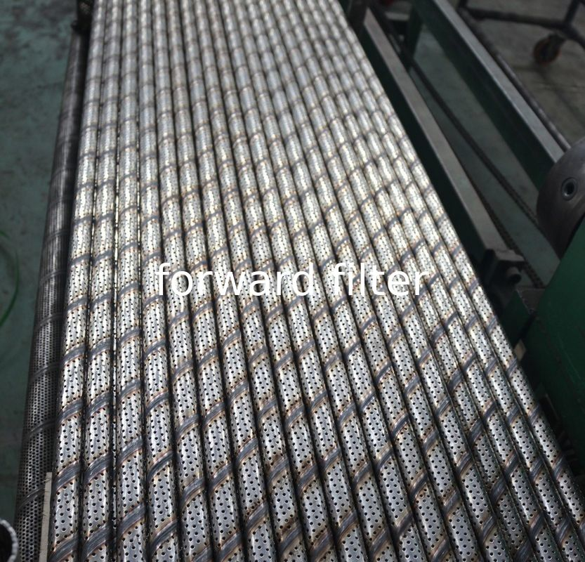 Drainage System Perforated Stainless Tube Customized Metal Length 100mm-6000mm