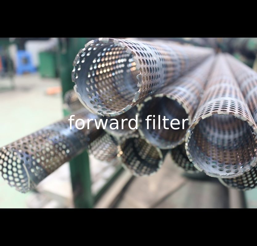 Durable 316 Steel Perforated Filter Tube Surface Treatment Round Hole Pattern